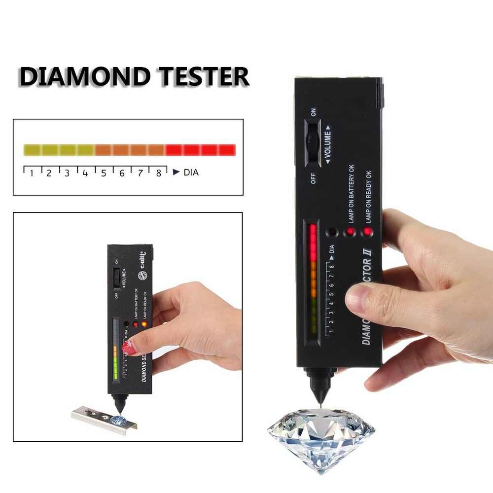 Алмазный тест er селектор светодиодный индикатор алмаза тестовая ручка высокая точность профессиональный ювелирный тест er детектор драгоценных камней тестовая Ручка инструмент