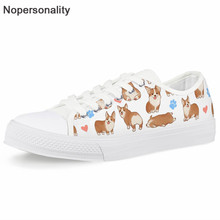 Nopersonality Corgi Shoes 3D Printing Fashion Sneakers Women