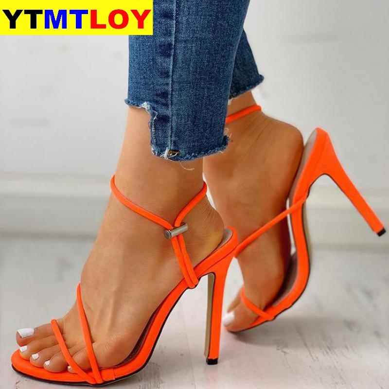 Summer Shoes Fashion Solid Color Casual Open Toe Super High Heel Fish Head Pumps Size 35-42 Women Female Leather Sandals