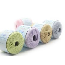 Mercerized Cotton Cord Thread DIY Hand Knitting Yarn for Embroidery Crochet Lace F3MD