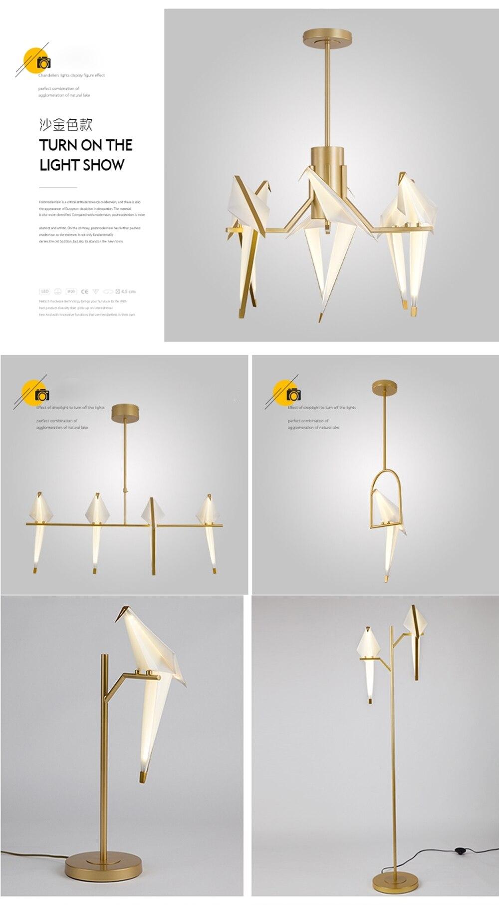 H9420b0f61f874753be0595bbe003b713t - LED Postmodern Iron Acryl Love Bird LED Lamp LED Light Wall lamp Wall Light Wall Sconce For Bedroom Corridor