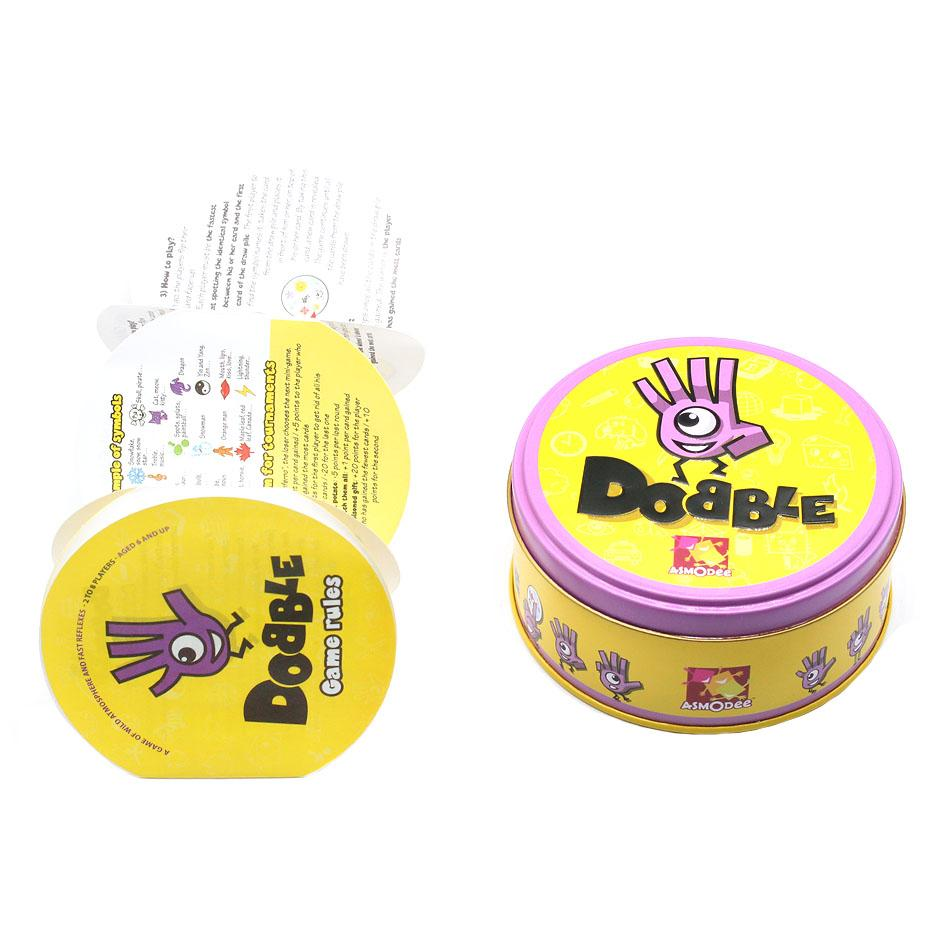 Spot It And Dobble Card Game Table Board Game For Dobbles Kids Spot Cards It Go Camping Metal Tin Box Toys