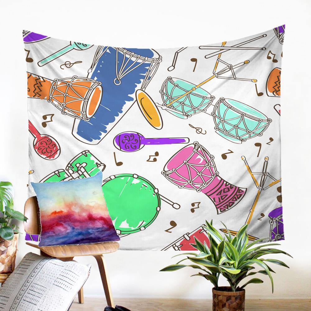 ТКАНЕВОЕ Настенное подвесное красивое красочное музыкальное одеяло с рисунком Gobelin Mecrame Pannel