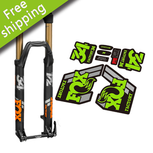 2018 FOX34 mountain bike bicycle front fork stickers for MTB DH race cycling replacment decals free shipping(China)