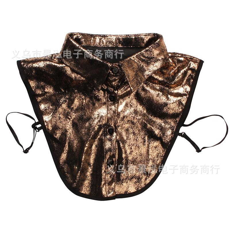 Metal Laser Color Fake Collar Popular Pattern All Seasons Short Clothes Underwear Shirt Collar