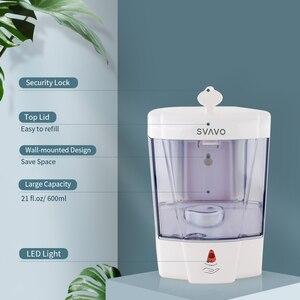 Image 3 - 600 Ml Capaciteit Automatische Zeepdispenser Touchless Sensor Handdesinfecterend Wasmiddel Dispenser Wall Mounted Voor Badkamer Keuken
