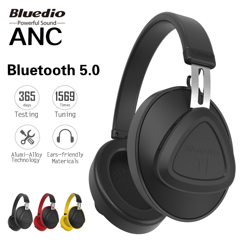 Casque Bluetooth Bluedio V5.0 casque sans fil anti-bruit actif avec micro moniteur casque de Studio pour téléphone IOS/Android