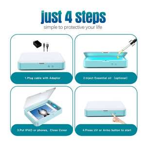 Image 4 - Multi Function Mini UV Lights Sanitizer with Aromatherapy Disinfect Cell Phones Toothbrush Mask Comestic Tool UV Sterilizer box