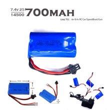 Wpl d12 rc bateria de carro 7.4v 2s 500mah lipo bateria para mn45 wpl d12 rc carro barco arma 14500 2s 7.4v lipo bateria carregador parte brinquedos