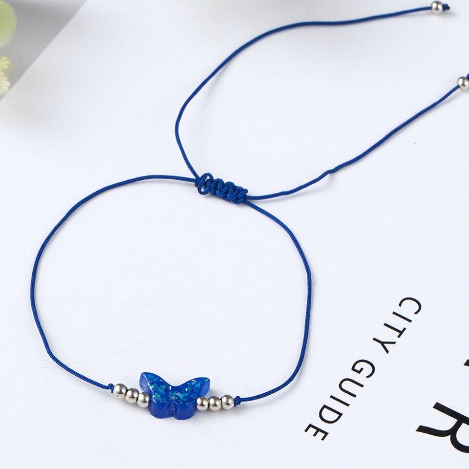 Boho Ankle Bracelet Bohemian Colorful Heart Beads Jesus Cross Turtle Butterfly Infinity Triangle Anklet Women's Leg Bracelet (14)
