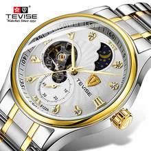 лучшая цена Mechanical Men Watch Luxury Fashion Brand TEVISE Sport Watches Waterproof Stainless Steel Automatic Men Watch Relogio Masculino