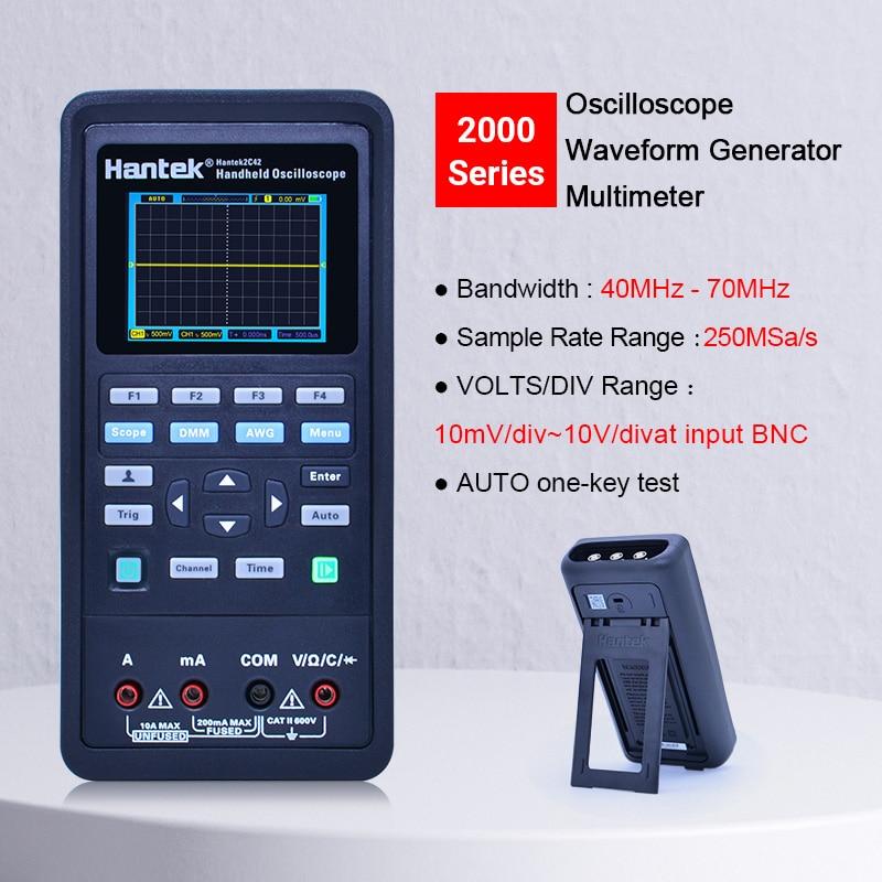 Digital Oscilloscope+Waveform Generator+Multimeter Portable USB 2 Channels 40mhz 70mhz Color highlight Display Test Meter Tools