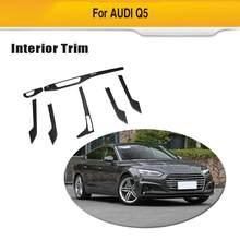 Interior Do Carro De Fibra de carbono Da Tampa Da Guarnição Para Audi A5 S5 Sedan 2017-2019 7 pcs Set Movimentação Da Mão Esquerda só Add On