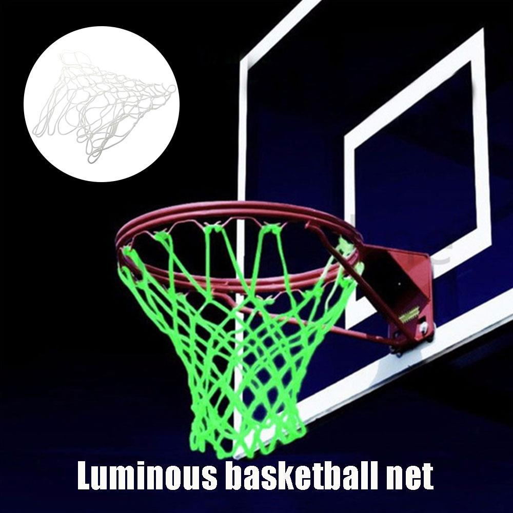 Luminescence Outdoors Basket Net Backboard Basketball Court White Nylon Athletic Sports Match Basketball Net Practical