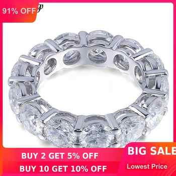 choucong Eternity Ring Round 6MM 5A Zircon Sona Cz 925 Sterling Silver Engagement Wedding Band Rings for Women Men Fine Jewelry - DISCOUNT ITEM  91% OFF All Category