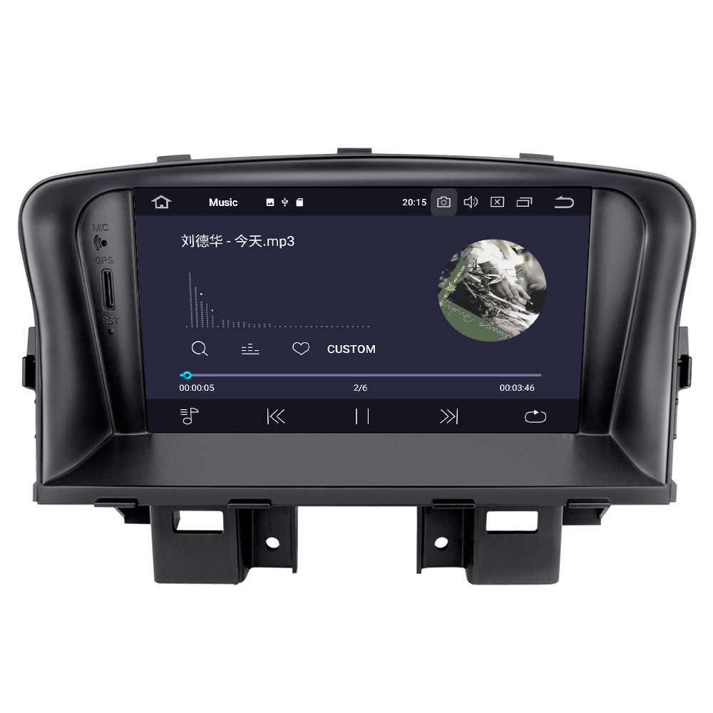 Android 9 автомобильный gps-навигатор автомобильный DVD CD-плеер для Chevrolet CRUZE 2008-2012 головное устройство мультимедийный магнитофон ips