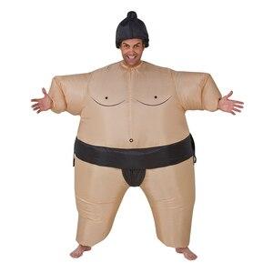 Image 3 - 2 색 성인 풍선 스모 코스프레 의상 할로윈 남성 여성 패션 성능 Dropshipping