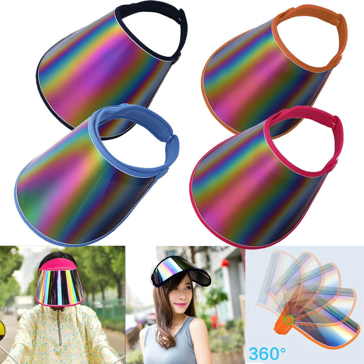 Unisex Summer Sun Visor UV Protection Casual Plastic Hat Sunscreen Cap Sunhat