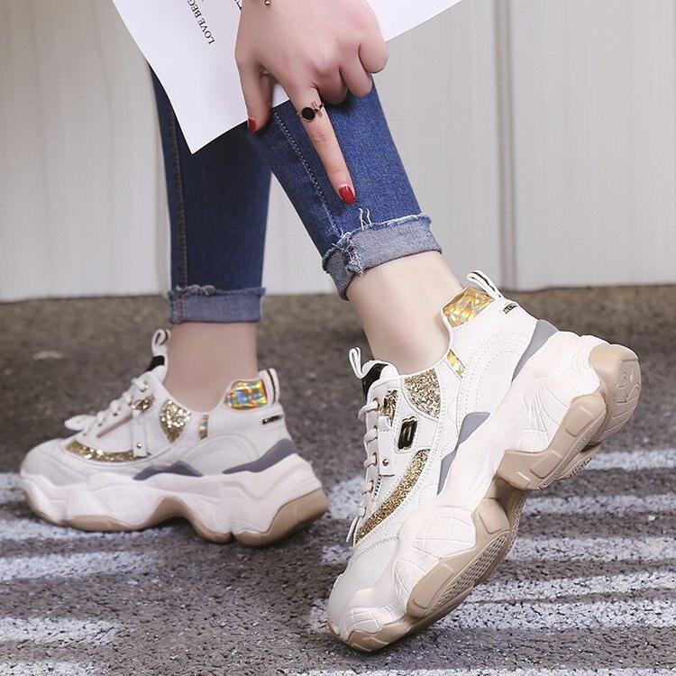 LMCAVASUN zapatillas mujer; женские блестящие кроссовки на платформе; кроссовки для папы; женская обувь; кроссовки; корзина; chaussure