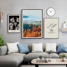 Скандинавский стиль современный пейзаж полуостров 3 шт постер
