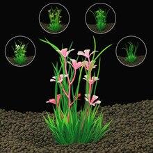 Aquarium Artificial Plants Submersible Aquatic Fish Tank Ornament Plant Aquatic Water Grass Landscape Viewing Decoration