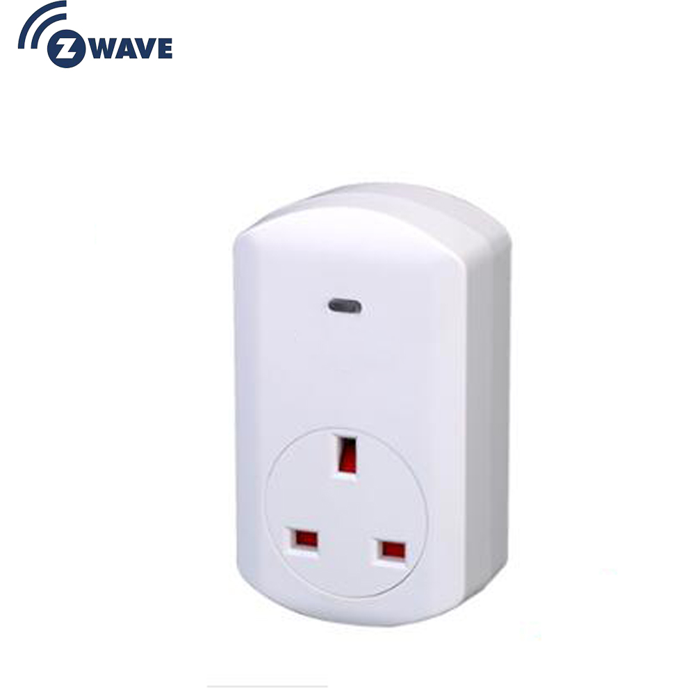 Haozee Energy Power Meter Z-WAVE Plus UK Type Plug-in ON/OFF Z Wave 868.4MHz Video Frequency Smart Home Automation
