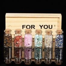 6 pieces/set 100% natural crystal gravel specimen collection rose quartz glass bottle home decoration Valentine gift souvenir wi