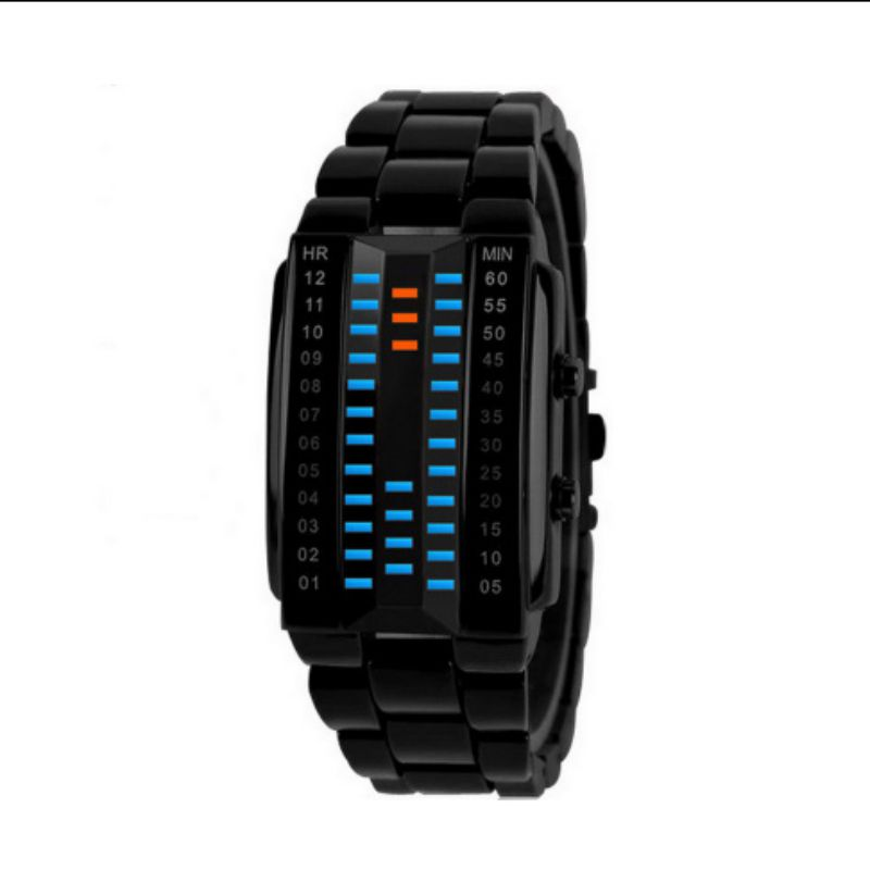 Electronic Watches Unisex Quality LED 3D Mirror Chain Waterproof Watch Couple Watches