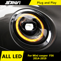 Car Styling for BMW Mini Cooper F56 2014 2019 All Headlight assembly With Super Bright Bi LED Projector Lens Fashion LED DRL