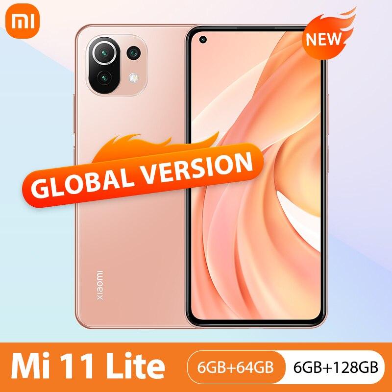 Xiaomi Mi 11 Lite NFC 64 Гб/128 Гб мобильный телефон Глобальная версия Snapdragon 732 Octa Core 64MP тыловая камера 4520 мАч Mi 11 Lite чехол для телефона