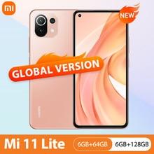 Xiaomi Mi 11 Lite Nfc 64Gb/128Gb Mobiele Telefoon Global Versie Snapdragon 732G Octa Core 64MP achteruitrijcamera 4520Mah Mi 11 Lite Telefoon