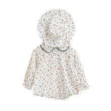 Одежда для маленьких девочек; Детский комбинезон с цветочным