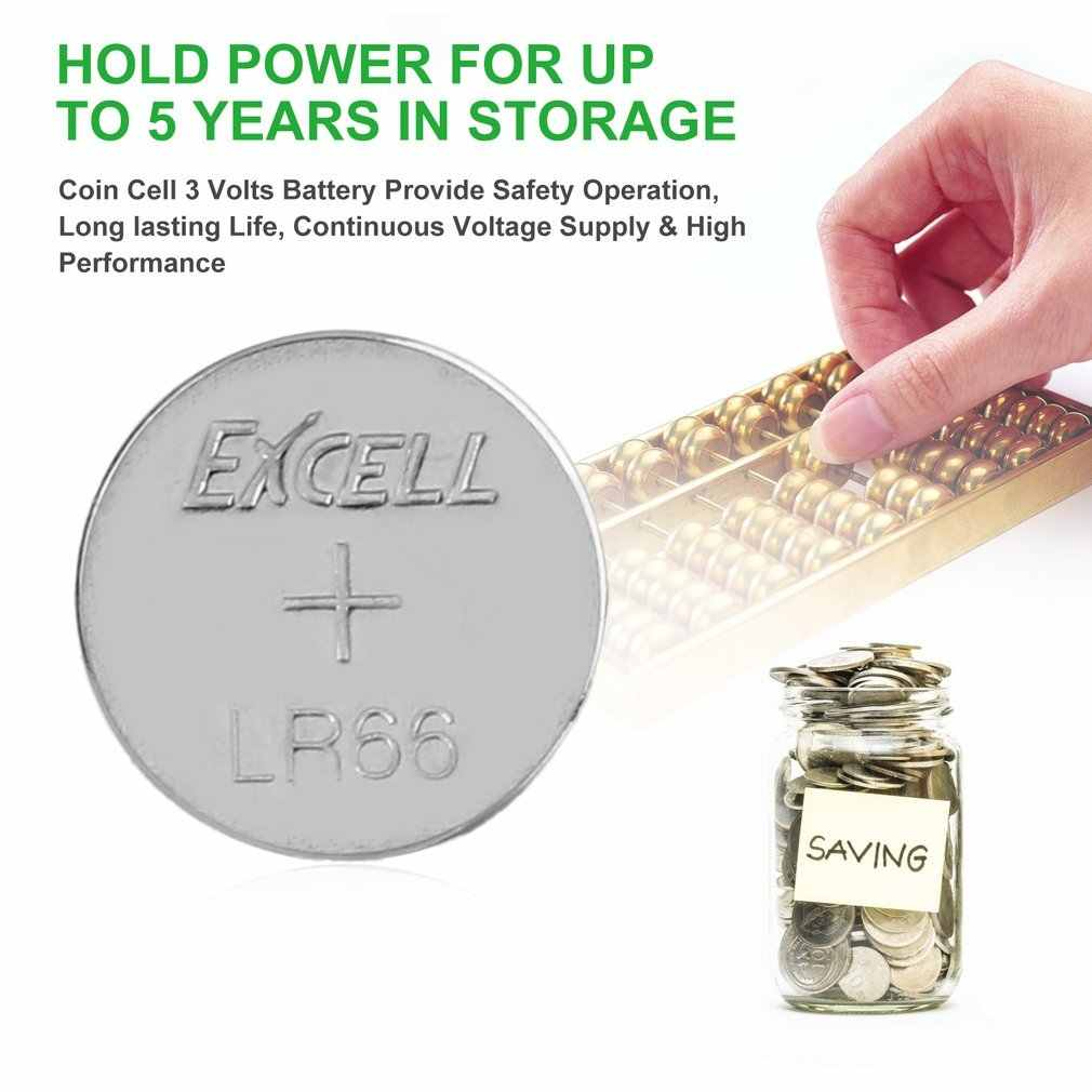 10 ชิ้น/ล็อต EXCELL 1.5V LR66/177/377/AG4 ปุ่มเหรียญเซลล์แบตเตอรี่ปุ่มแบตเตอรี่ยาวชั้นวางชีวิตสำหรับนาฬิกาของเล่นอิเล็กทรอนิกส์