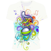 2021 New Musical Note 3D Printed T-Shirt Men And Women Hip-Hop Fashion Suit Harajuku Top