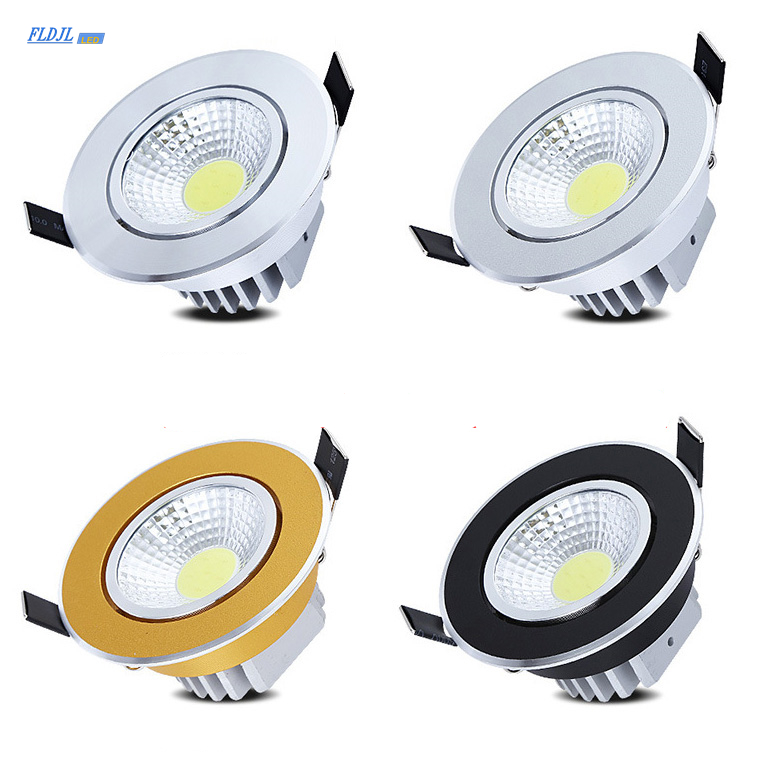 Dimmable LED Downlight COB Ceiling Spotlight 7w 9w 12W 15W 20W AC85-265V Ceiling Recessed Light Indoor Lighting