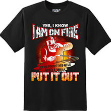 Funny I Am on Fire Welder T Shirt New Graphic Tee Wholesale