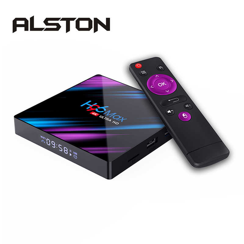 ALSTON-decodificador H96 MAX RK3318 Dispositivo de TV inteligente Android 10,0 2GB 16, reproductor multimedia GB 4K Google Netflix H96MAX
