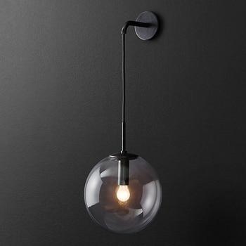 IWHD Gold Nordic LED Wall Lamp Beside Bedroom Living Room Bathroom Glass Ball Light Fixtures Wandlamp Applique Murale - discount item  45% OFF Indoor Lighting