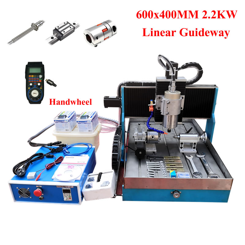 2200W Cnc Engraving Machine 6040 Wood Router Metal Milling Machine 3axis 4axis Usb Mach3 Software Controller Linear Guideway