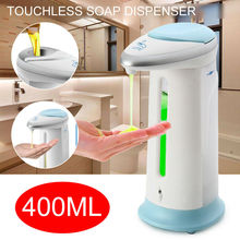 400Ml Automatic Soap Dispenser Smart Sensor Touchless ABS Electroplated Sanitizer Dispensador for Kitchen Bathroom Fashion