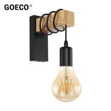 Современный минималистичный деревянный настенный светильник
