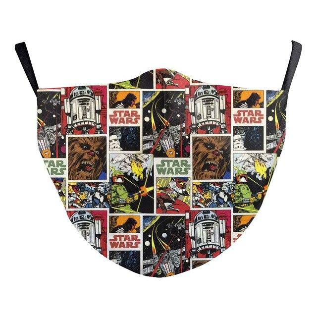American comic book Star Wars Miles Morales Cosplay Kids Face Mask Dustproof Adult Masks 4