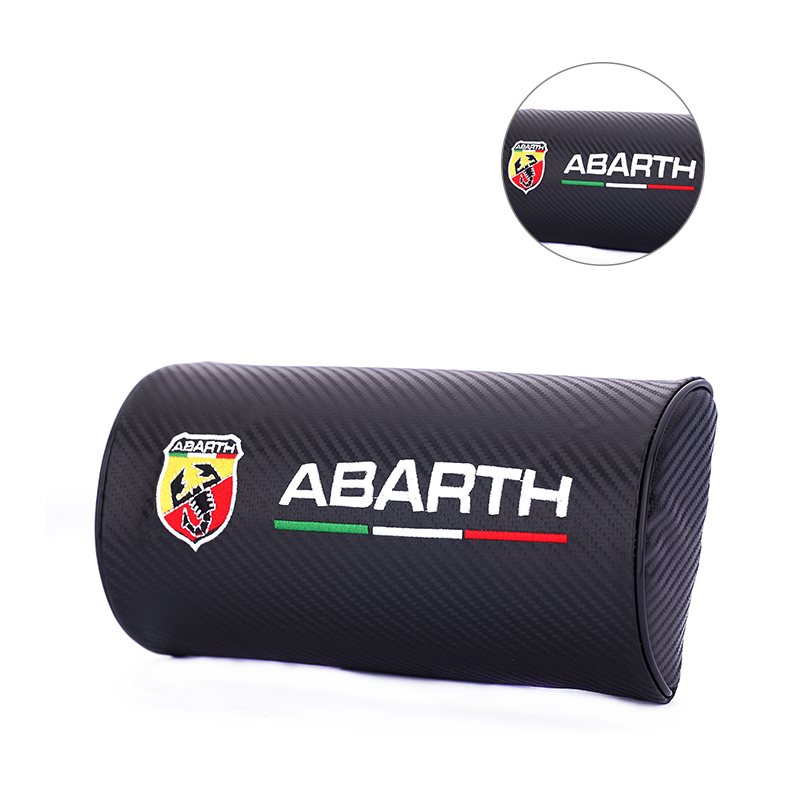 Auto Interior Decoration Seat Headrest Supplies Neck Pillow Car Styling For Abarth 595 500 695 Fiat 500 124 131 Abarth Punto