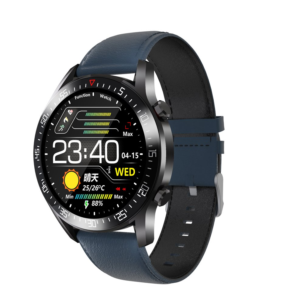 C2 Smart Watch Round Dial Men Smartwatch Full Touch Screen Heart Rate Monitoring IP68 Waterproof Fitness Sports Watch