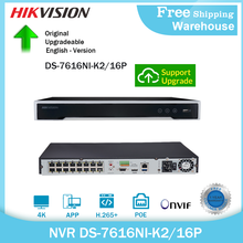 Hikvision 4K 8MP NVR DS-7616NI-K2/16P 16ch POE Onvif H265+ HDMI CCTV NVR 2Way Audio For IP Camera Security System Video Recorder