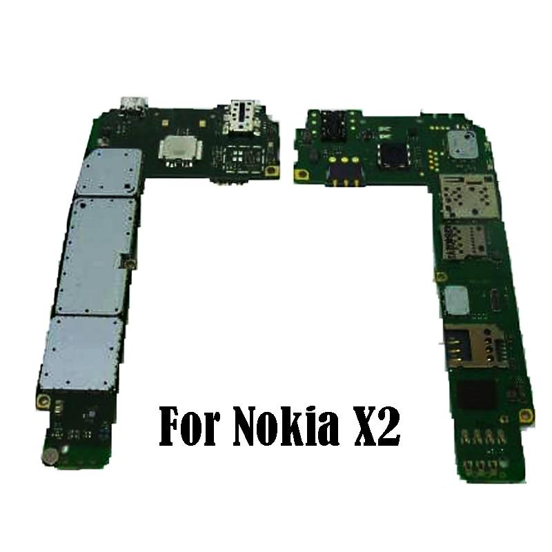 100 original placa mae para nokia x2 mainboard desbloqueado placa de circuito completo substituicao por frete