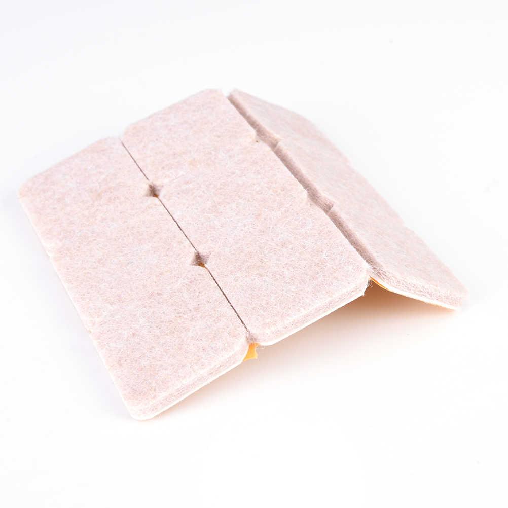 18 шт. самоклеющиеся квадратные войлочные прокладки стул стол ноги пол царапины протектор немой Противоскользящий коврик для ремонта мебели аксессуары