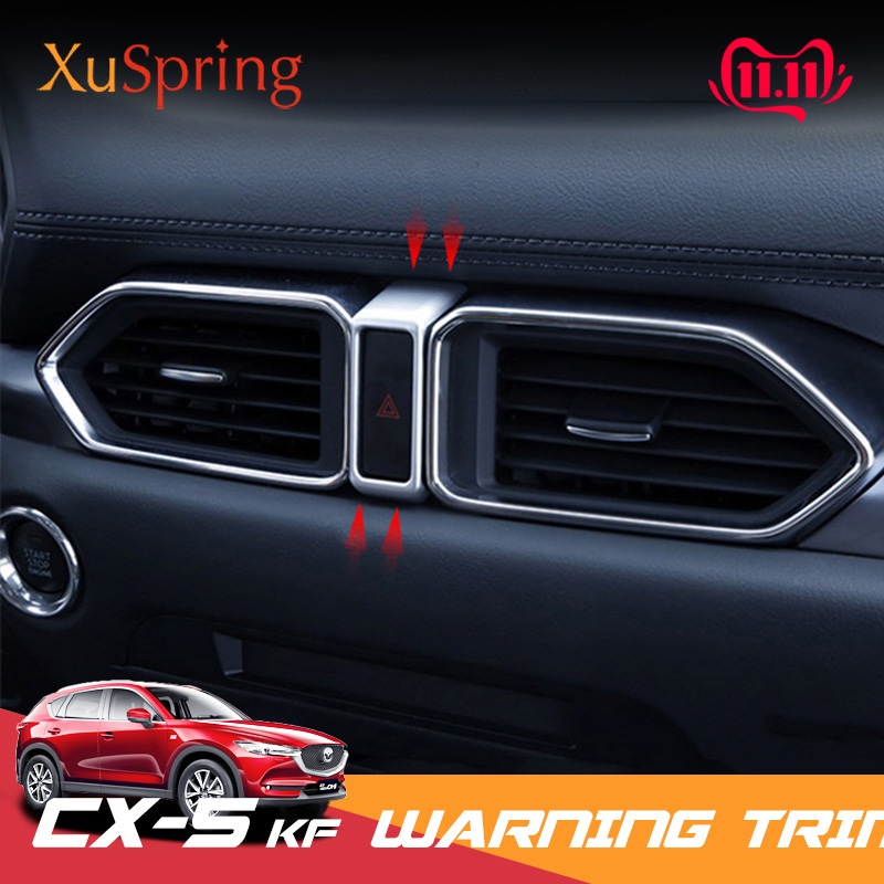 For <font><b>Mazda</b></font> <font><b>CX5</b></font> CX-5 2017 2018 2019 Car Dashboard Dash Warning Light Alert Push Button Switch Trim Ring Cover Accessories image