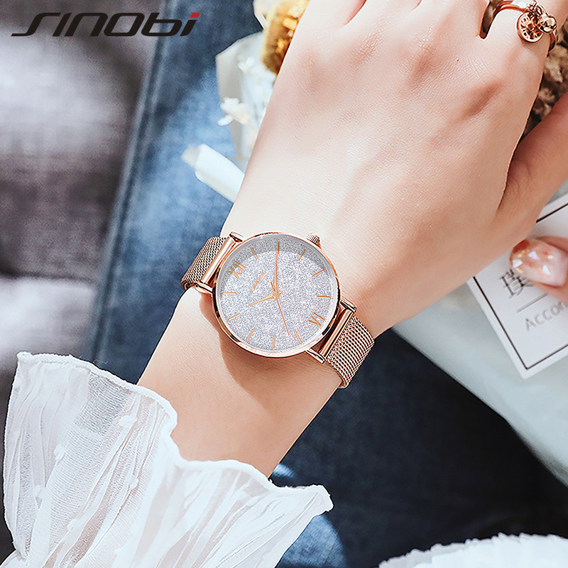 Sinobi Starry Sky Women Watch Quartz Wrist Watches Lady Casual Waterproof Luxury Ladies Watch Womens Wristwatch Relogio Feminino