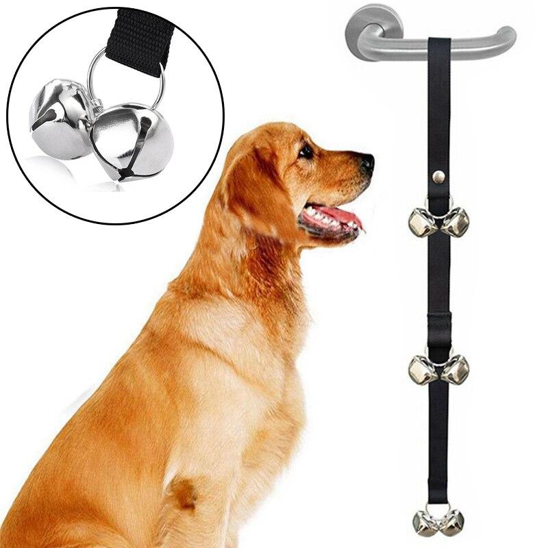 Dog Doorbells Premium Quality Training Potty Great Adjustable Dog Bells for Housebreaking Clicker Door Bell Training Tool-1